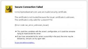Firefox Certificate Warning