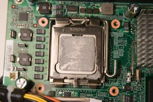 EX487 CPU Socket with thermal paste