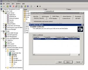 IIS Configuration