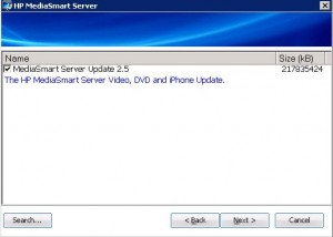2.5 Software Update package found