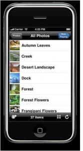 iPhone photo viewer list