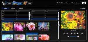 Media Streamer photo tab