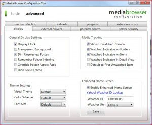 MB Config Tool Advanced-Display