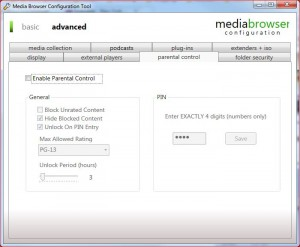 MB Config Tool Advanced-Parental Control