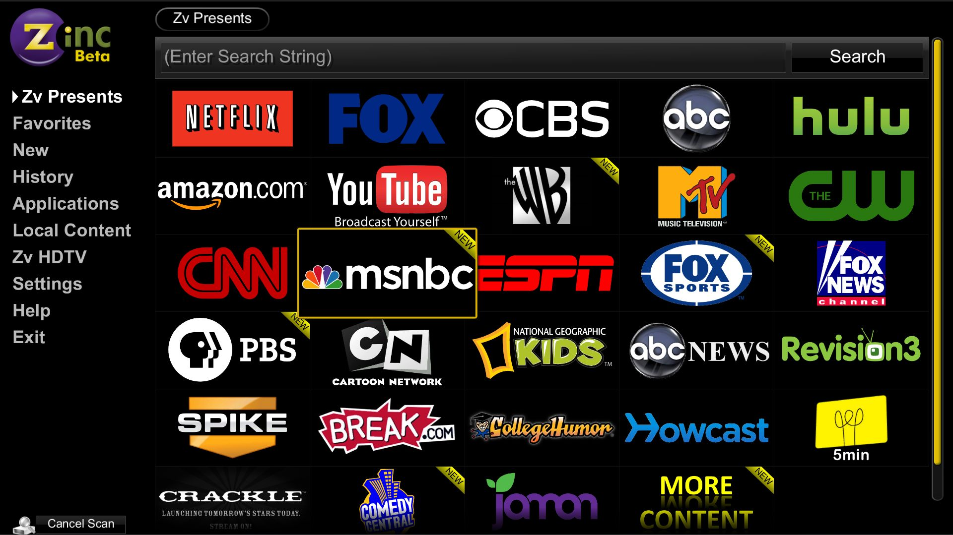 Viewing Online Content With Zinc — MediaSmartServer net