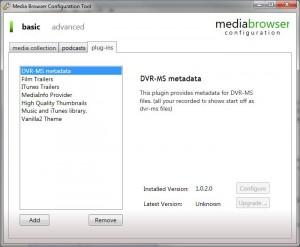 MediaBrowser Configurator