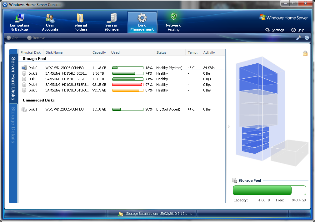 Disk Management 1 1 for Windows Home Server released
