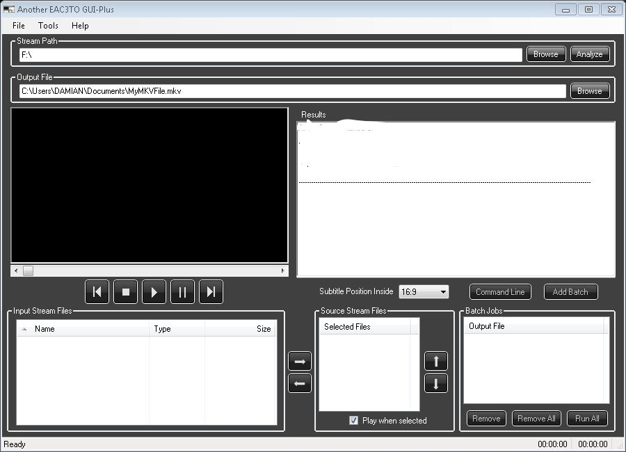 MKV Mania: Another EAC3to GUI — MediaSmartServer net