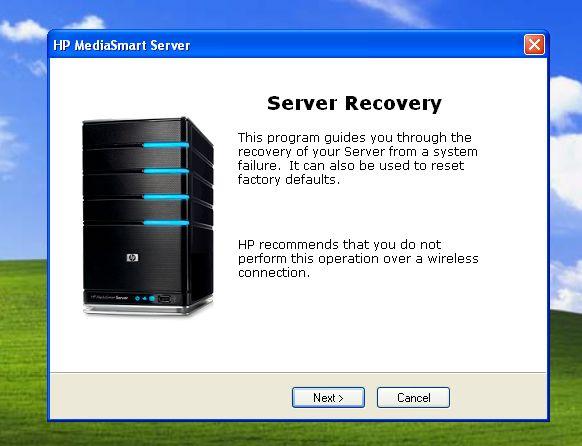hp mediasmart server recovery disc iso