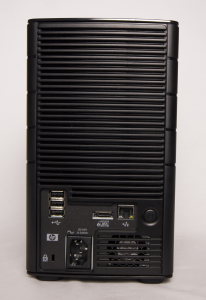 HP X310 Data Vault rear view