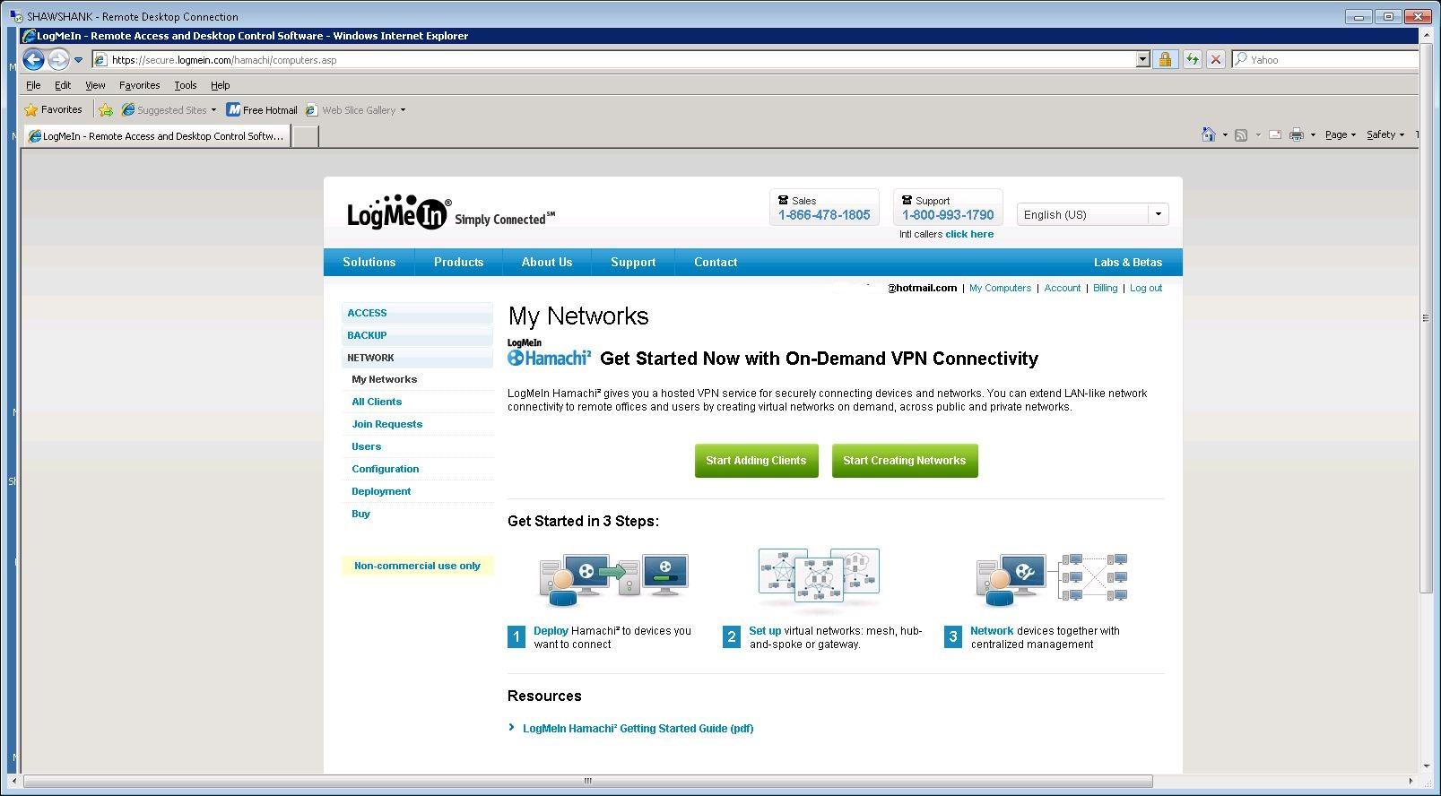 Clients My Network  >> Guide Creating A Vpn With Logmein Hamachi Mediasmartserver Net