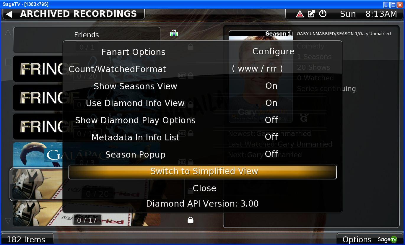 Guide: SageTV Diamond UI Mod And Theme Walkthrough
