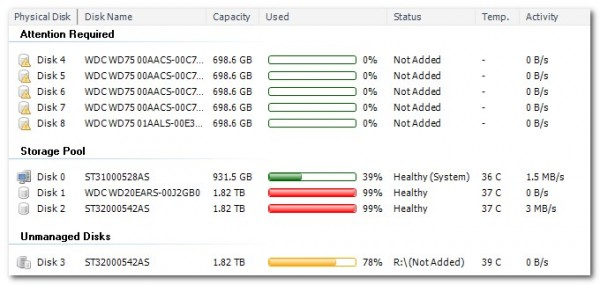 5 drives showing in Disk Management addin